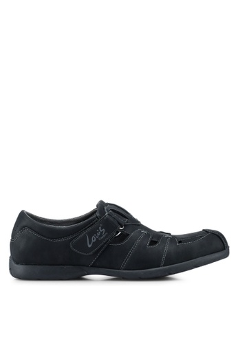 Louis Cuppers black Casual Walking Shoes 13BDESHC1B5079GS_1