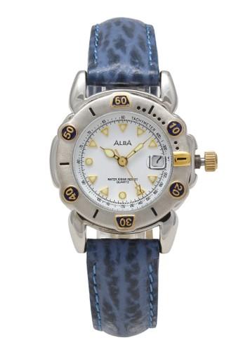 Alba blue ALBA Jam Tangan Wanita - Blue Silver White - Leather Strap - AXTH54 AE3AEAC7D08221GS_1