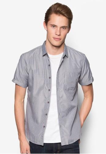 細條紋貼身短袖esprit outlet 台中襯衫, 服飾, 襯衫