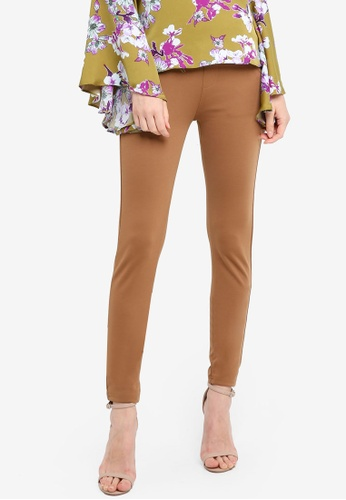 Zariya brown Long Pants 0F632AA0E6C0B7GS_1