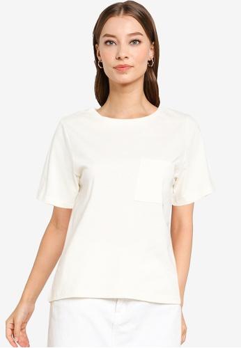 Heather white Knit T-Shirt E4C15AADF715F2GS_1