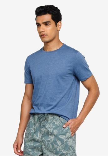 GAP blue V-Short Sleeve Evd Crew Fashion Tee 53E99AABACE2B7GS_1