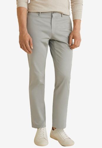 Mango Man 灰色 Slim-Fit Chinos Trousers 3B5EFAAA904609GS_1