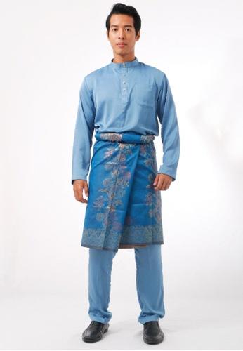 KAMDAR blue Shafi Baju Melayu 9C990AAB7D119DGS_1