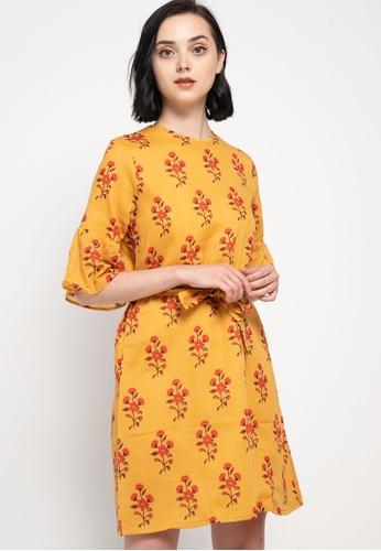 CHANIRA LA PAREZZA yellow Chanira Luna Dress 4EF32AA92BC03AGS_1