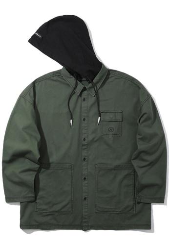 Fivecm green Hooded shirt A4FB8AA9755673GS_1