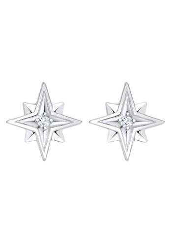 ELLI GERMANY silver Earrings Star Crystals EL474AC0SEVGMY_1