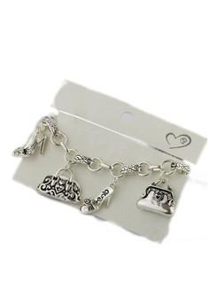Zebra Heels and Bags Charm Bracelet