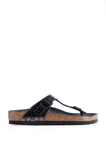 amazing price shopping cheap Shop Birkenstock Gizeh Gator Gleam Sandals Online on ZALORA ...
