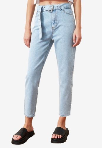 Trendyol blue High Waist Mom Jeans 6BA62AA956027AGS_1