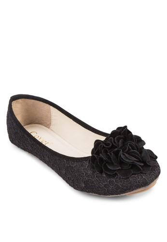 貼zalora 評價花蕾絲平底鞋, 女鞋, 鞋