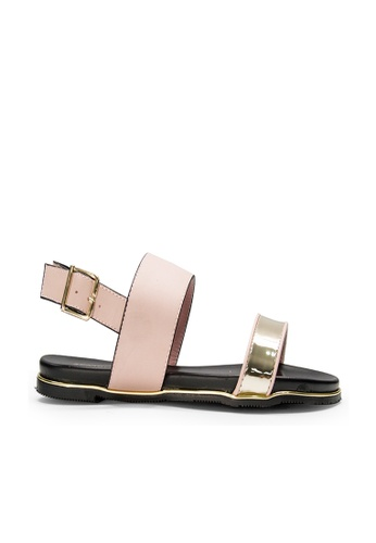 SEMBONIA pink SEMBONIA Synthetic Leather Flat Sandal (Pink) 96610SHF0F6AADGS_1
