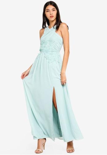 Little Mistress green Spearmint Trim Maxi Dress 9D56EAABC845A6GS_1