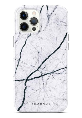 Polar Polar 白色 經典白色雲石紋雙層光面手機殼 iPhone 12 Pro Max 5A36BAC5C12D73GS_1