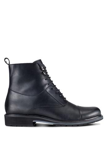 ZALORA black Contemporary Faux Leather Dress Boots F0DEEAA608FA8AGS_1