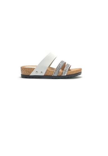 Crystal Korea Fashion white Korean Made Summer Comfortable Casual Slippers 45A90SH7623F55GS_1