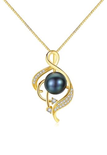 A.Excellence black Premium Black Pearl Elegant Necklace 19464ACB3D20AFGS_1