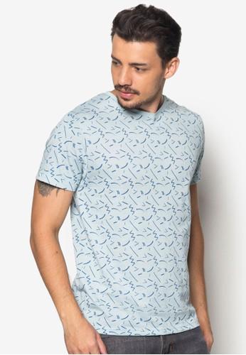 抽象印花esprit台灣官網短袖TEE, 服飾, T恤