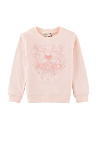 KENZO KIDS pink KENZO TIGER GIRLS SWEATSHIRT E6560KAE195845GS_1
