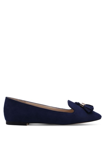 ZALORA 海軍藍色 Loafer Flats With Tassels 122CESH29AF305GS_1