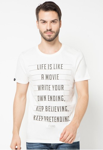 Quotes Text Basic Tee