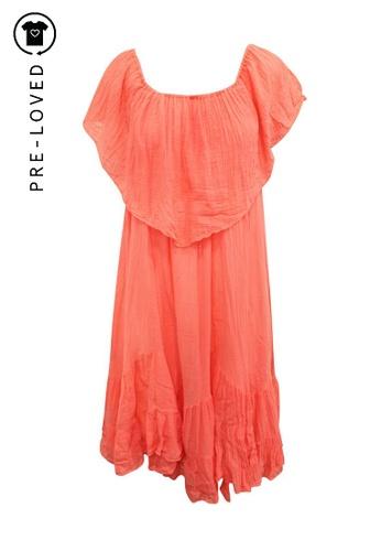 Reformation orange Pre-Loved reformation Oversized Flattering Coral Dress 26F25AAB218763GS_1