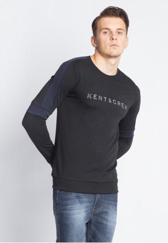 KENT & CREW black KENT & CREW LONG SWEATSHIRT 41BF5AAA4AB00AGS_1