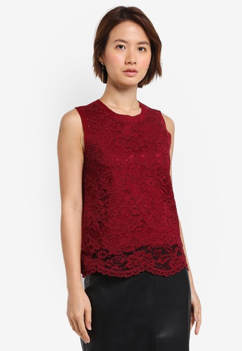 ZALORA red Lace Top ECA99AA8775600GS_1