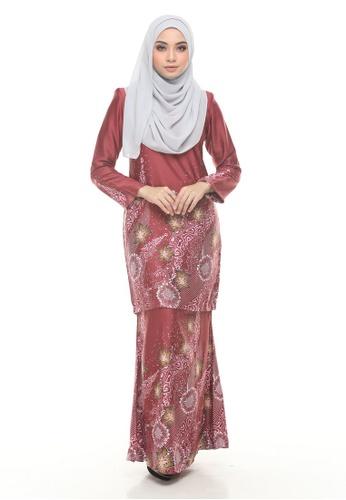 Kurung Modern Iwani (Maroon) from Nur Shila in Red