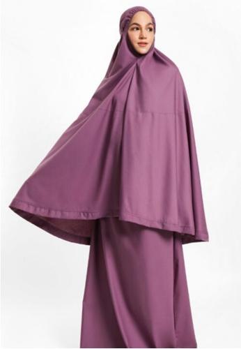 ZAAHARA Zaahara Telekung Hidaya in Grape (with pockets) 5667BAA0CA7CD8GS_1