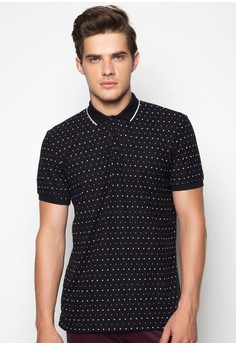 Men's Basic Printed Polo with Embro