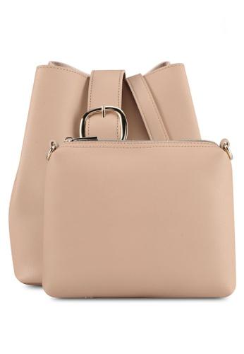 Perllini&Mel beige Faux Leather Sling Bag E7DDCACC44B614GS_1