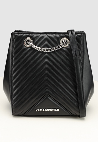 6a8c24e7eb0a KARL LAGERFELD black Klassik Quilted Bucket Bag 35033ACD3FB4C5GS 1