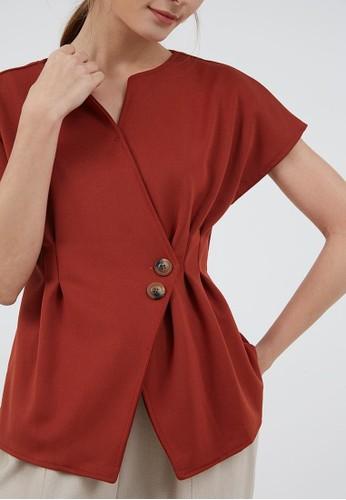 Berrybenka Label red Sophie Kayana Wrap Top Terracotta CECCAAADEA2BE7GS_1