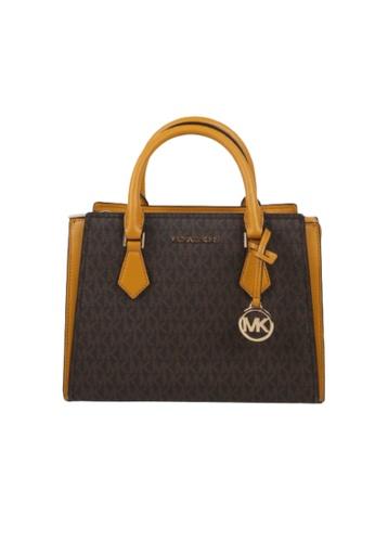 Michael Kors brown Michael Kors Medium Hope 35T0GWXM8B Messenger Bag In Marigold D8427ACC43C745GS_1