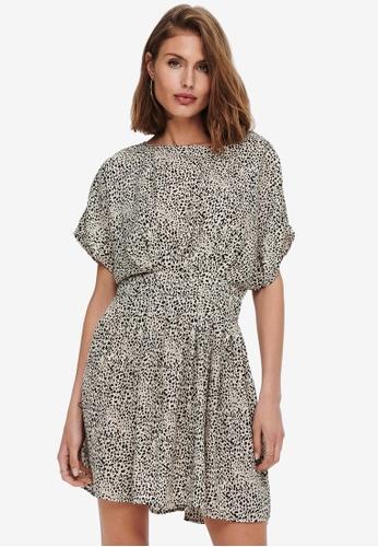 JACQUELINE DE YONG white Basil Short Sleeves Dress 0B345AA5F75AE1GS_1