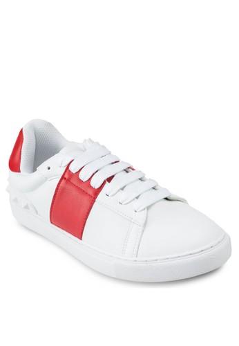鉚釘撞色繫帶運動鞋, 韓系時尚,esprit香港門市 梳妝