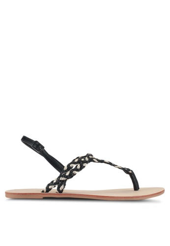 ONLY black Margit Braided Sandals D676FSH96EA4ACGS_1