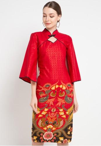 Batik Putra Bengawan red and multi Dress Kp Ozima Rd Pb 3186DAABECBCCCGS_1