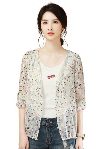 A-IN GIRLS multi Lightweight Fashion Hooded Jacket AE73AAA0B22FE8GS_1