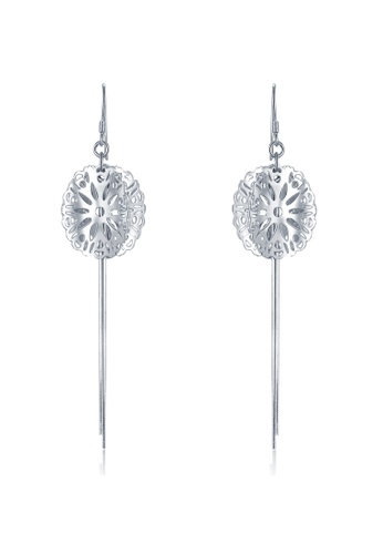 MBLife silver 925 Sterling Silver Filigree Flower Earrings E5B23AC06622BEGS_1