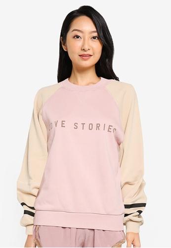 LOVE STORIES pink Boris Sweatshirt 63A0DAA9E6D14AGS_1