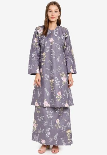 Butik Sireh Pinang grey Baju Kurung Pahang Julia 9098BAA1622742GS_1