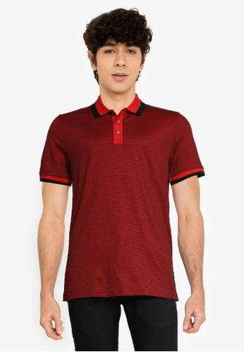 BOSS 紅色 Phillipson Polo Shirt - BOSS Men 70507AA444BA0BGS_1