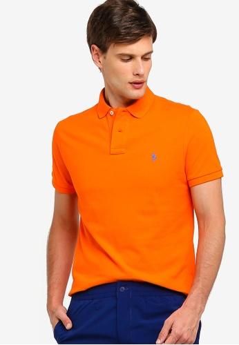 Knit Custom Fit Basic Mesh Polo Shirt