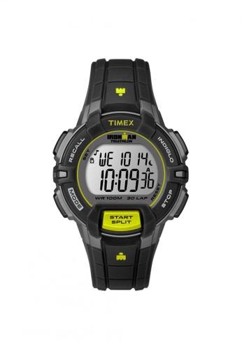 TIMEX black Timex IRONMAN® Rugged - 30 Mid-Size - Black Resin Strap (T5K809) TI857AC70QQNSG_1