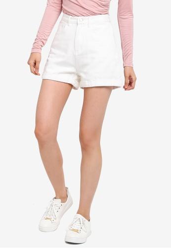 ZALORA BASICS white Basic Mom Shorts AC79CAA20420E8GS_1