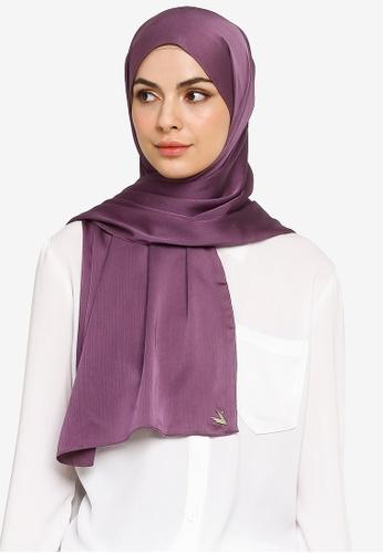 VERCATO purple Sallure Premium Allure Satin Shawl 24FDBAC2092BFEGS_1