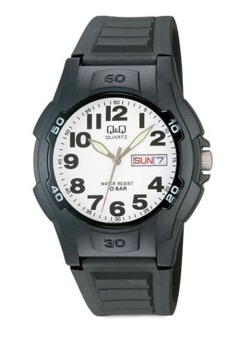 Qesprit 羽絨外套&Q 撞色日期指針手錶, 錶類, 其它錶帶