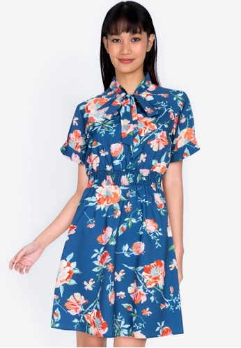 ZALORA BASICS multi Pussy Bow Detail Dress 1DEF6AAAE4A81AGS_1